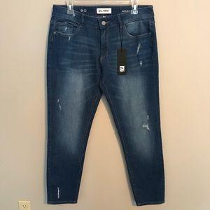 NEW DL1961 Azalea Relaxed Skinny Distress Jeans 29